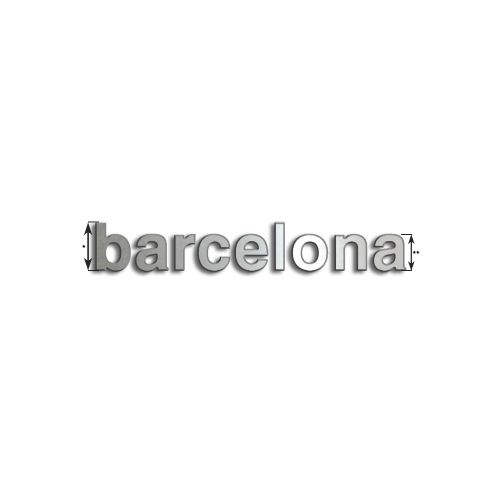Type Barcelona | Inox 8mm