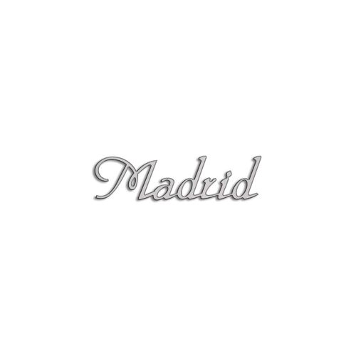 Type Madrid | 5mm Alu zilver