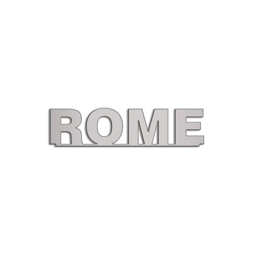 Type Rome | 5mm Alu zilver